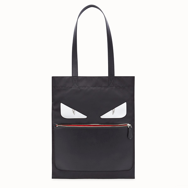 FENDI SLIM TOTE - Black nylon tote - view 1 small thumbnail