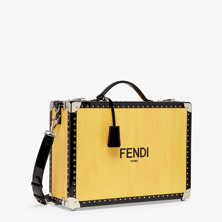FENDI TRAVEL BAG - Yellow leather suitcase - view 2 detail