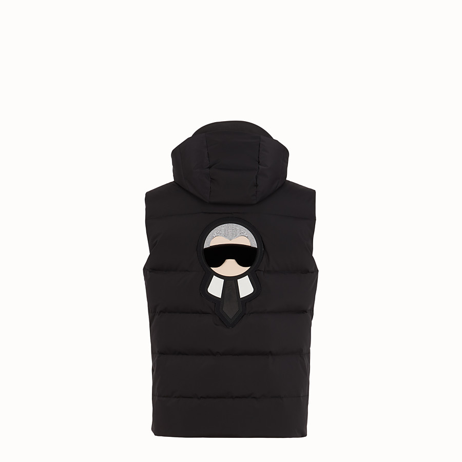 FENDI VEST - Black nylon vest - view 2 detail