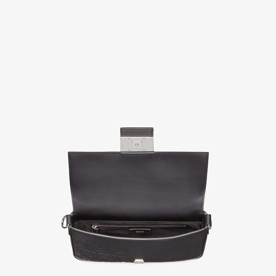 FENDI BAGUETTE - Black calfskin bag - view 5 detail