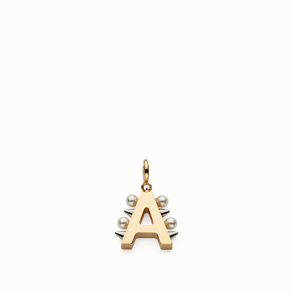 FENDI ABCHIC A - Charm with pearls and studs - view 1 small thumbnail