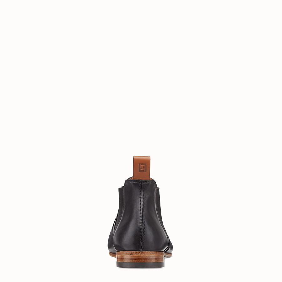 FENDI 及踝靴 - 黑色皮革靴子 - view 3 detail