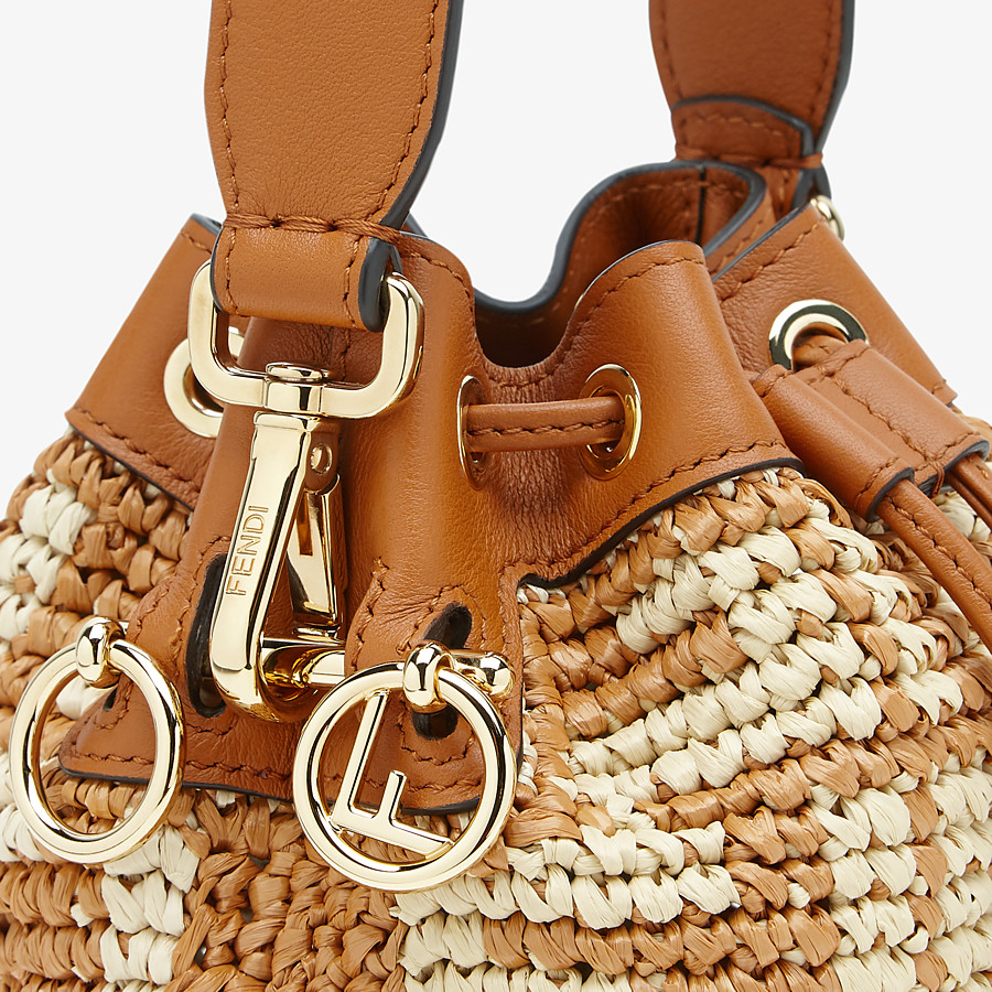FENDI MON TRESOR - Brown raffia mini-bag - view 6 detail