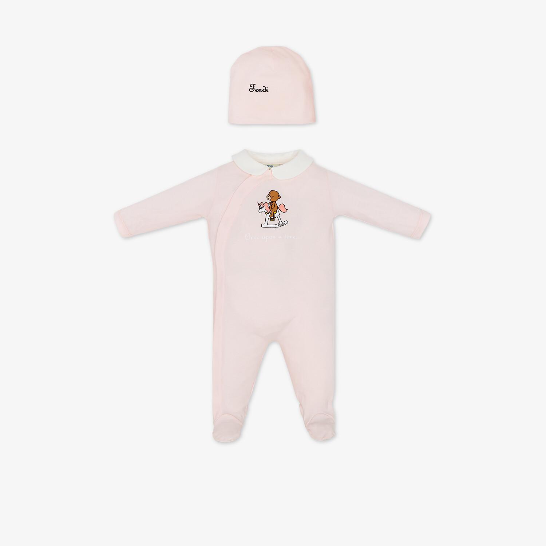FENDI BABY SET - Pink jersey baby set - view 1 detail