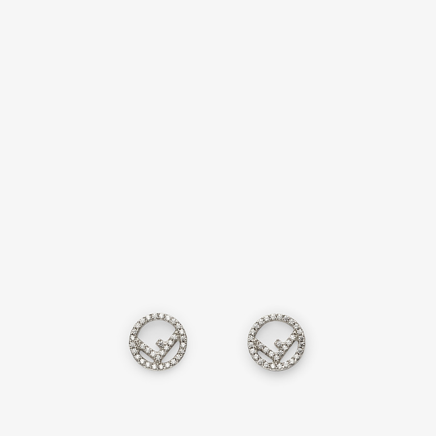 FENDI F IS FENDI EARRINGS - Palladium-colored earrings - view 1 detail