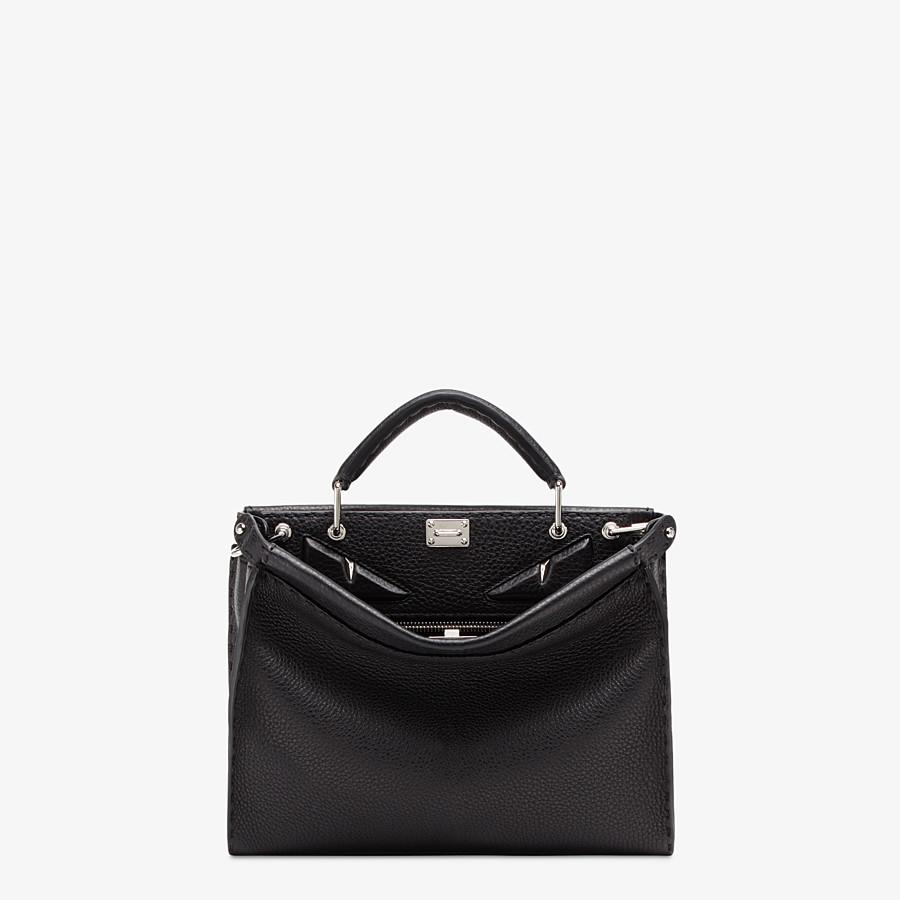 FENDI PEEKABOO ICONIC FIT MINI - Black leather bag - view 1 detail