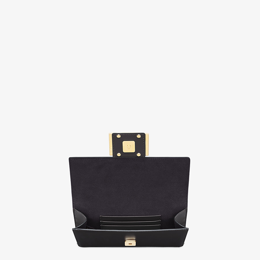 FENDI FLAT BAGUETTE - Black leather mini bag - view 5 detail