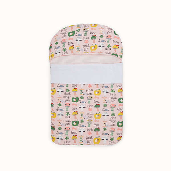 FENDI BUNX SLEEPING BAG - White, pink and multicolour jersey sleeping bag - view 1 small thumbnail