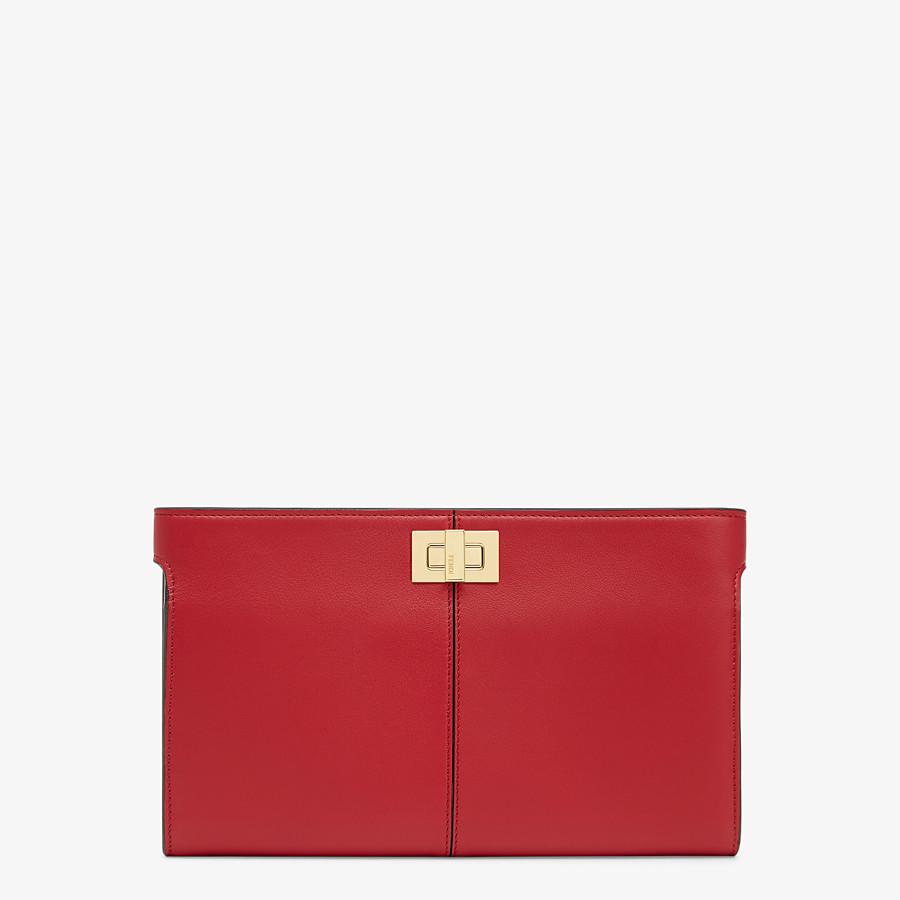 FENDI PORTEMONNAIE - Portemonnaie aus Leder in Rot - view 1 detail