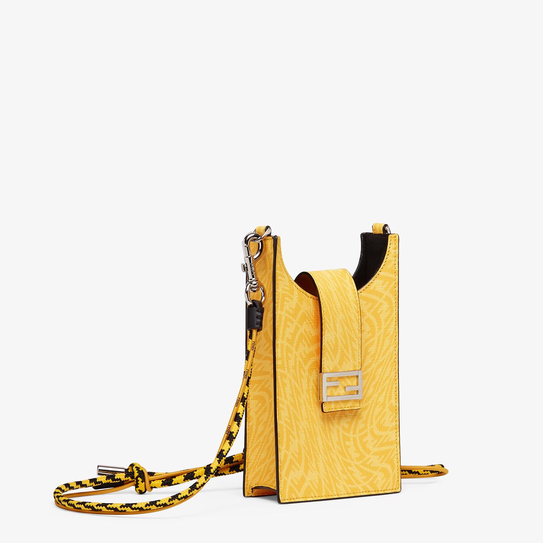 FENDI PHONE BAG - Yellow fabric mobile phone holder - view 2 detail
