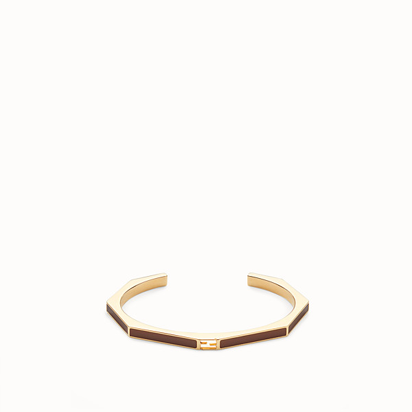 FENDI BAGUETTE BRACELET - Polished brown bracelet - view 1 small thumbnail