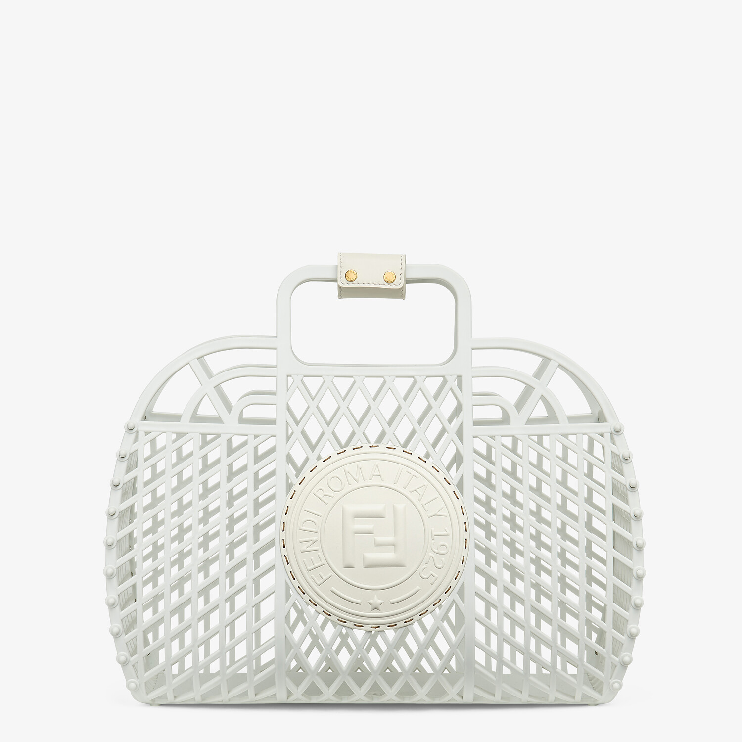 FENDI FENDI BASKET MEDIUM - White recycled plastic mini-bag - view 1 detail