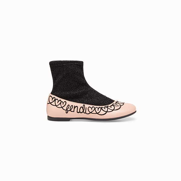 FENDI BOOTS - Pink leather ballerinas - view 1 small thumbnail