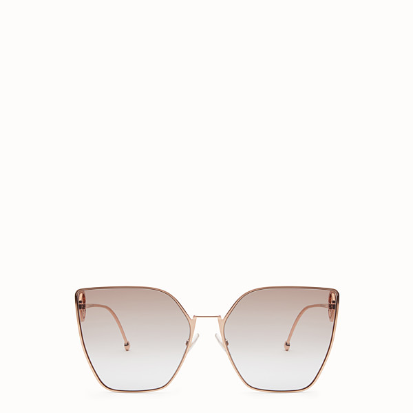 FENDI F IS FENDI - Gold-colour sunglasses - view 1 small thumbnail