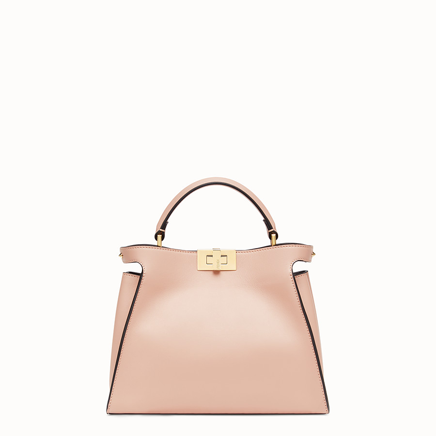 FENDI PEEKABOO ICONIC ESSENTIALLY - Tasche aus Leder in Rosa - view 1 detail