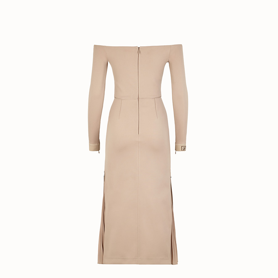FENDI DRESS - Beige cotton dress - view 2 detail