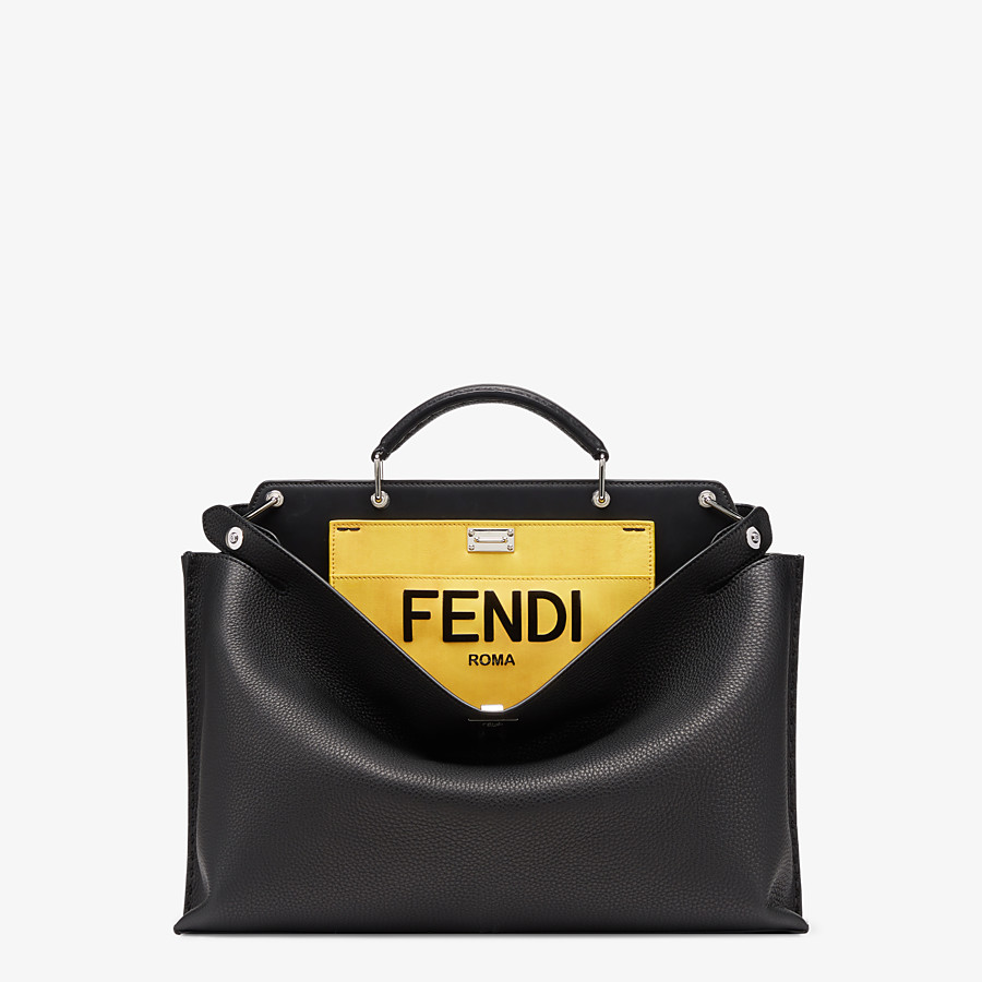 FENDI PEEKABOO ICONIC ESSENTIAL - Black leather bag - view 1 detail