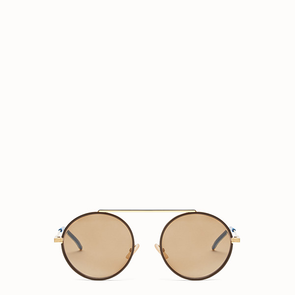 FENDI EVERYDAY FENDI - Gold sunglasses - view 1 small thumbnail