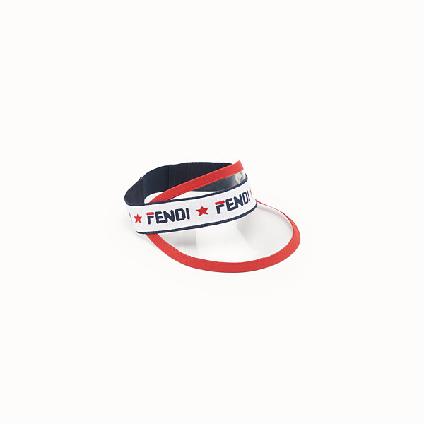 FENDI BAND WITH VISOR - Plastic and multicolour fabric visor - view 1 small thumbnail