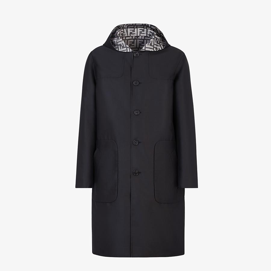 FENDI DUFFEL COAT - Black nylon coat - view 1 detail