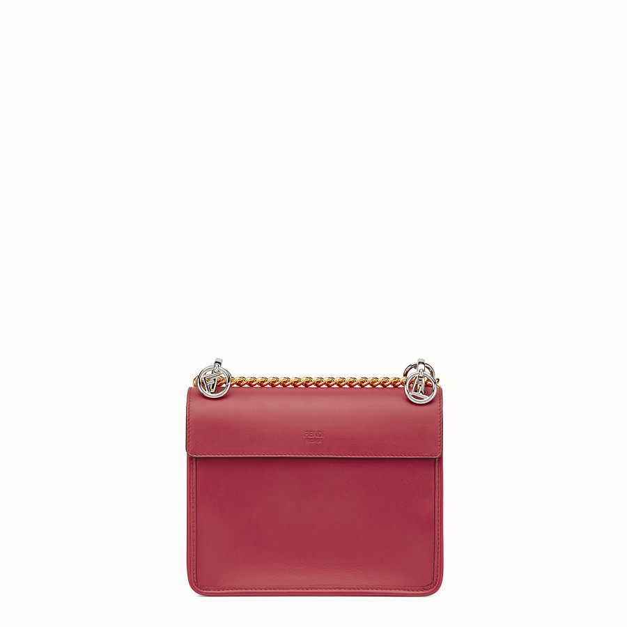 FENDI KAN I F SMALL - Red leather mini-bag - view 3 detail