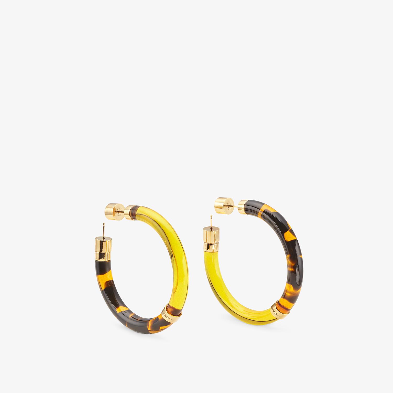 FENDI EARRINGS - Earrings in yellow plexiglass - view 1 detail