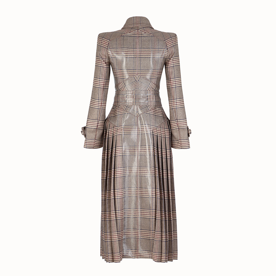 FENDI OVERCOAT - Prince of Wales check wool overcoat - view 2 detail