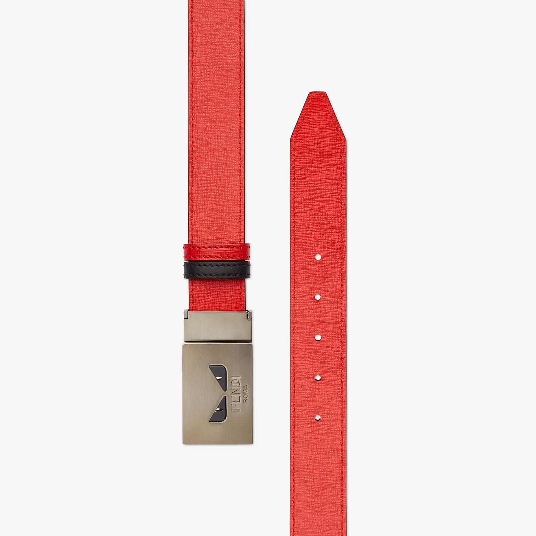 FENDI BELT - Black and red reversible belt - view 2 detail