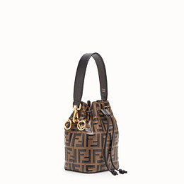 53e377fa6316 Brown leather mini-bag - MON TRESOR