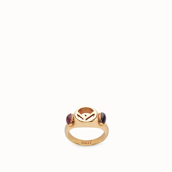 FENDI F IS FENDI RING - Gold-colour ring - view 1 small thumbnail