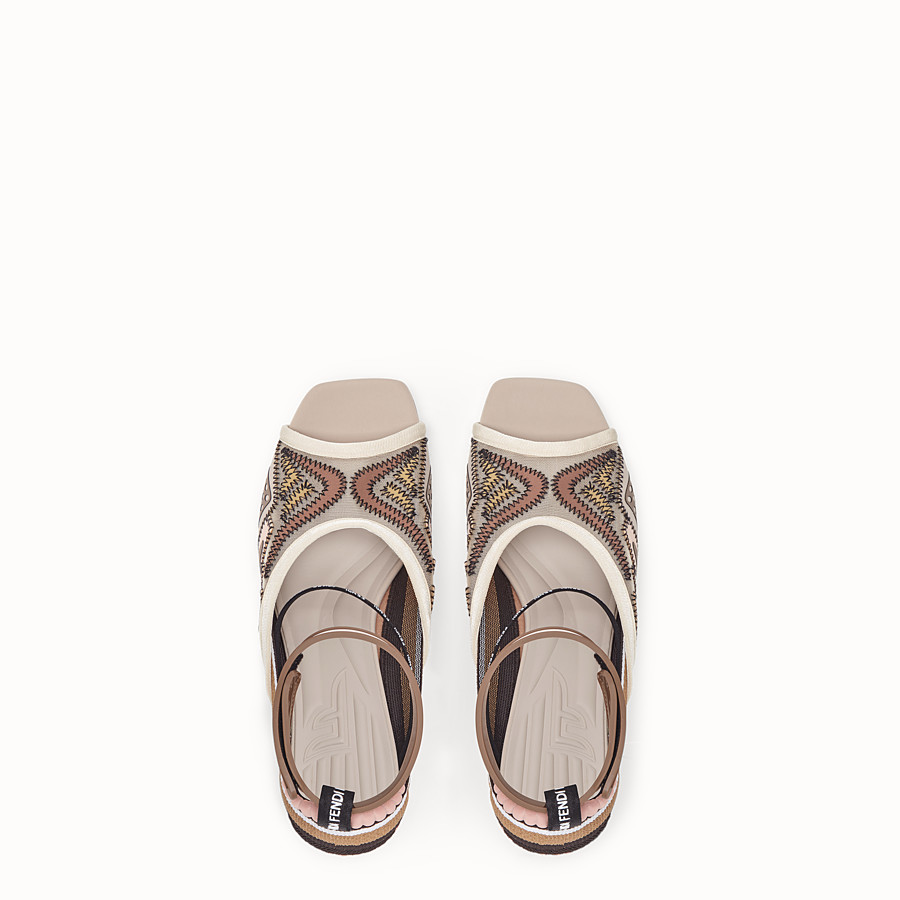 FENDI SANDALS - Sandals in pink technical mesh - view 4 detail