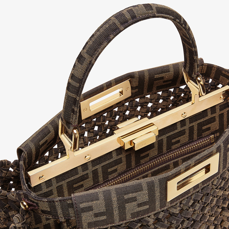 FENDI PEEKABOO ICONIC MEDIUM - Jacquard fabric interlace bag - view 6 detail