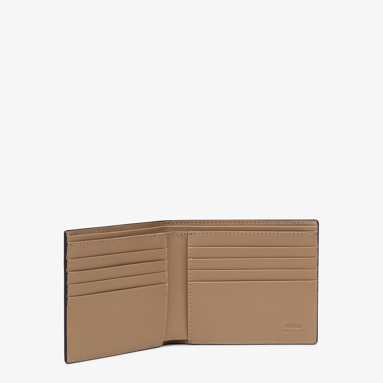 FENDI WALLET - White leather bi-fold wallet - view 3 detail