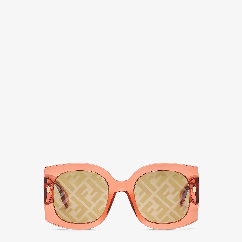 FENDI FENDI ROMA - Sunglasses in transparent orange acetate - view 1 detail