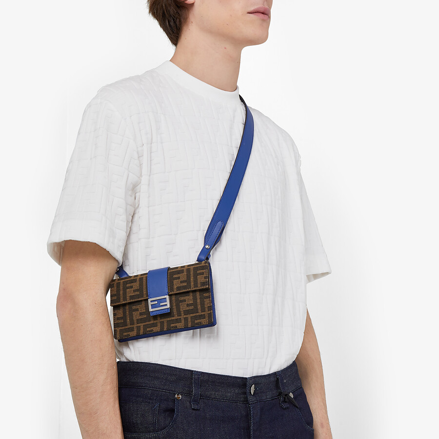 FENDI BAGUETTE POUCH - Brown fabric bag - view 5 detail