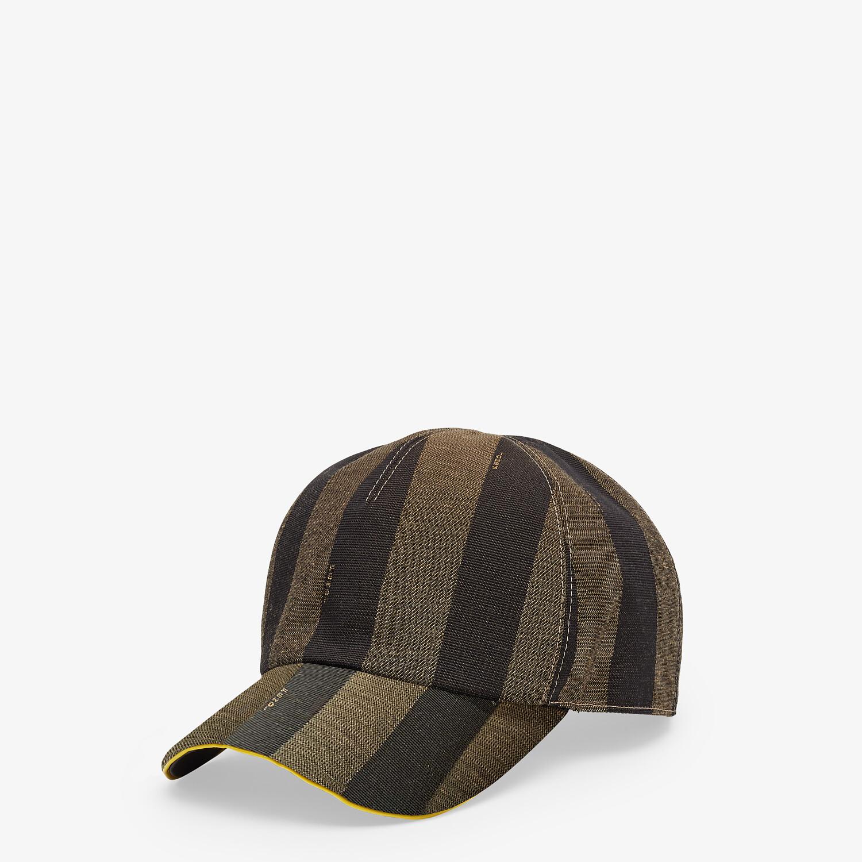 FENDI HAT - Brown fabric baseball cap - view 1 detail
