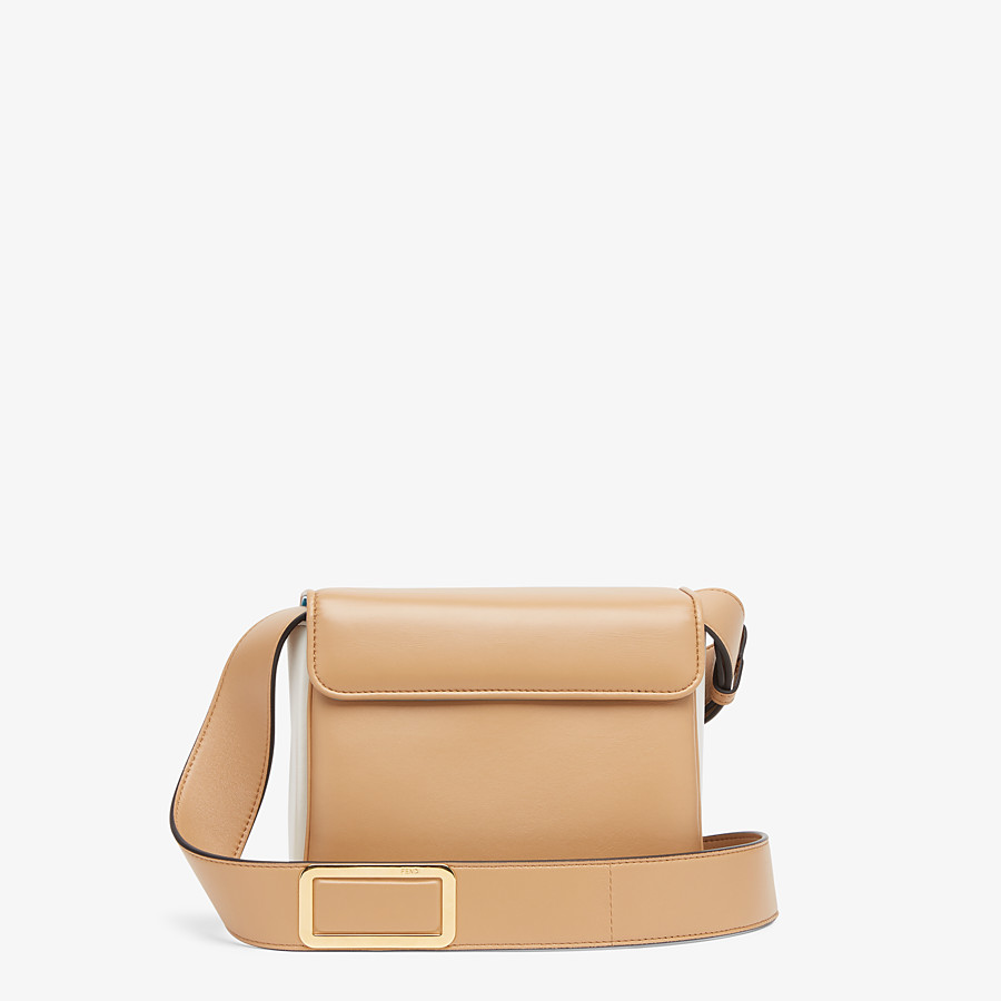 FENDI FENDI ID SMALL - Beige leather bag - view 4 detail