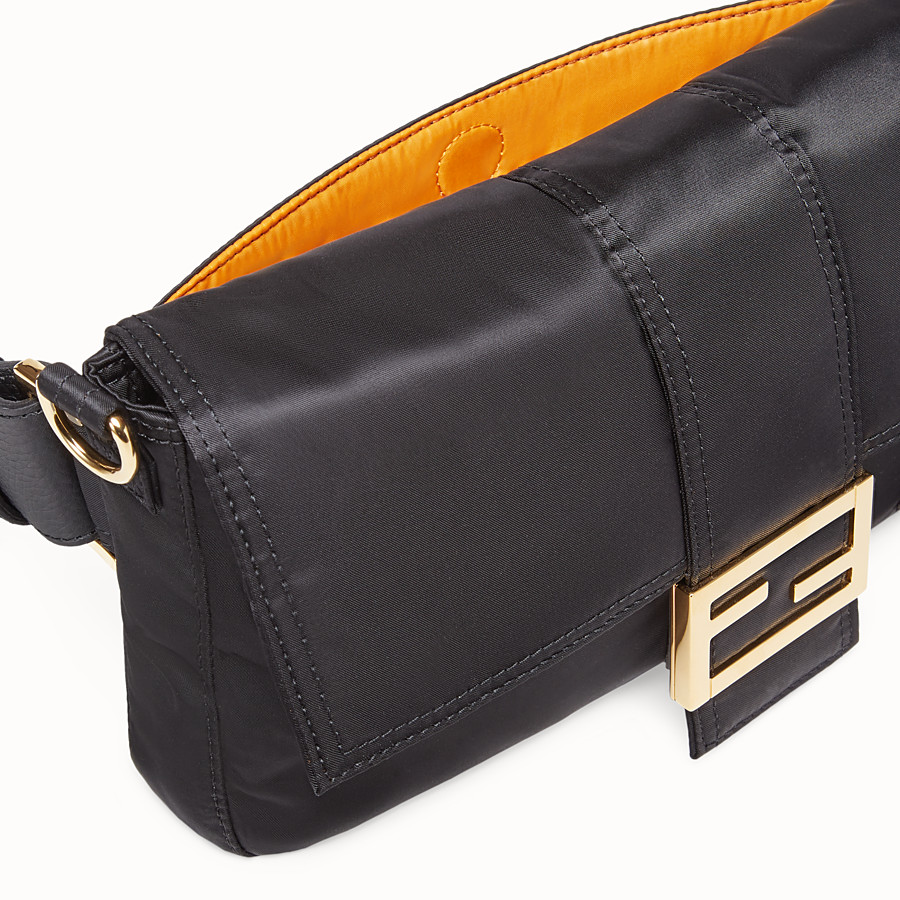 FENDI BAGUETTE FENDI AND PORTER - Black nylon bag - view 5 detail