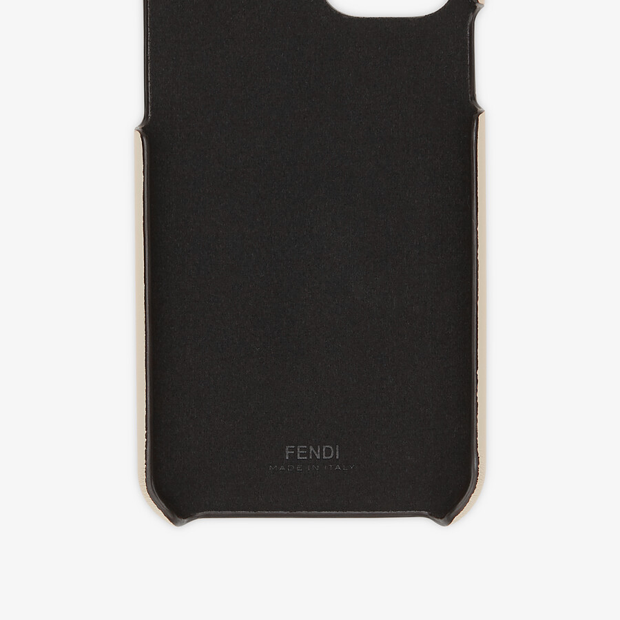 FENDI SMARTPHONE CASE - White nappa leather case - view 2 detail