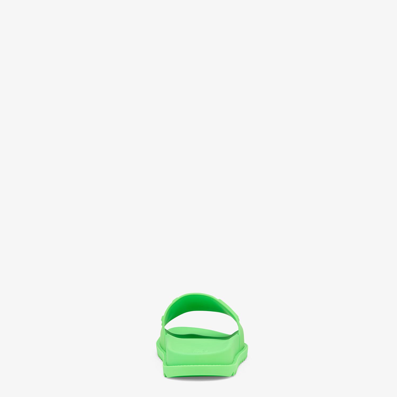 FENDI SLIDES - Fussbetts in green rubber - view 3 detail