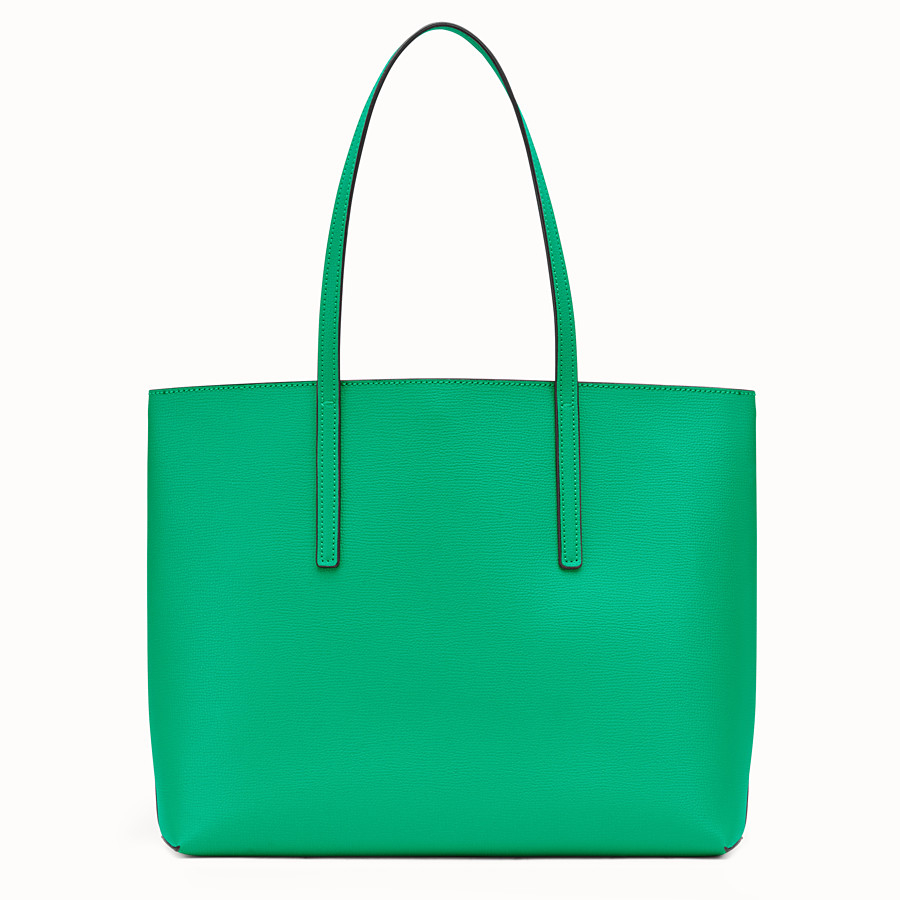 FENDI SHOPPER - Green leather shopper bag - view 3 detail