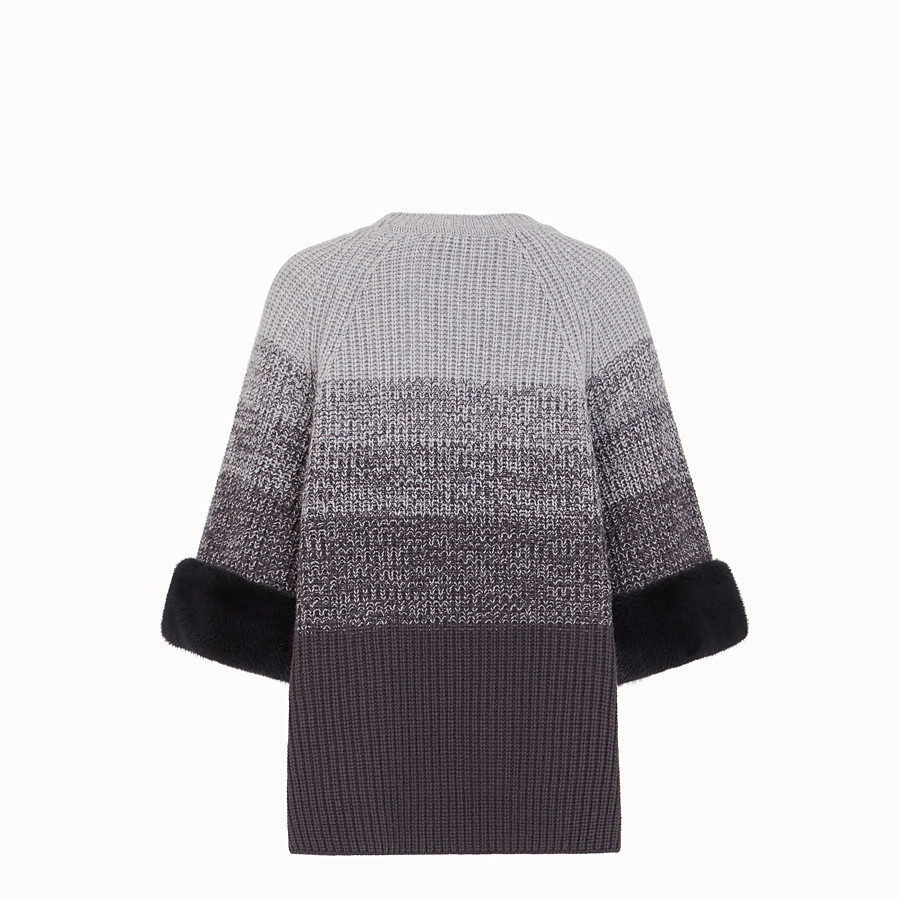 FENDI JUMPER - Grey wool sweater - view 2 detail