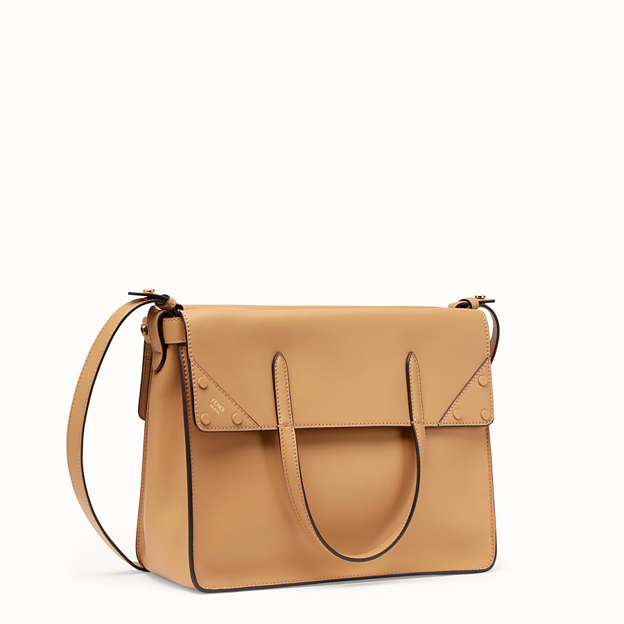 FENDI FENDI FLIP LARGE - Beige leather bag - view 4 detail