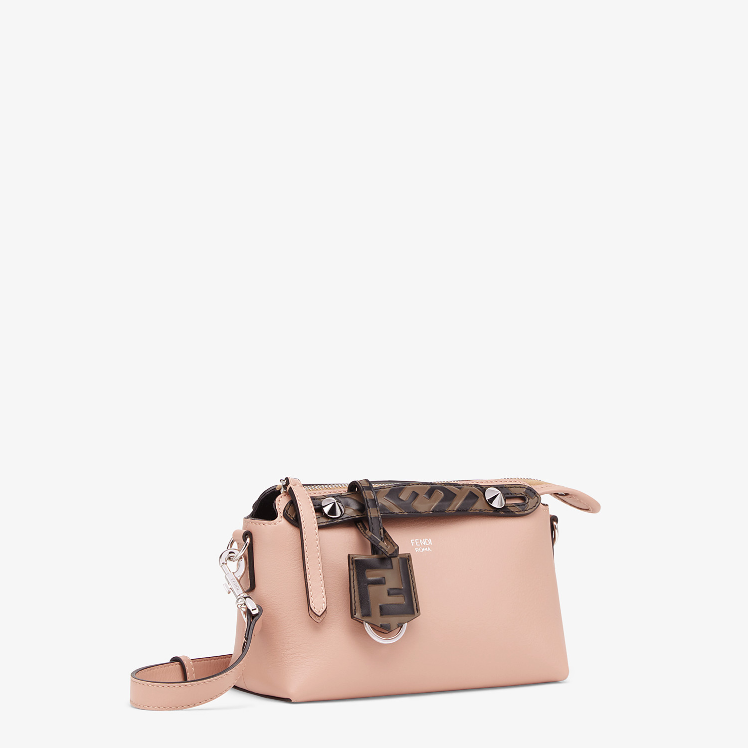 FENDI BY THE WAY MINI - Pink leather small Boston bag - view 3 detail