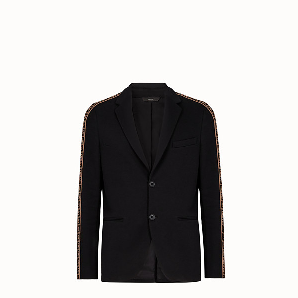 FENDI JACKET - Black cotton blazer - view 1 small thumbnail
