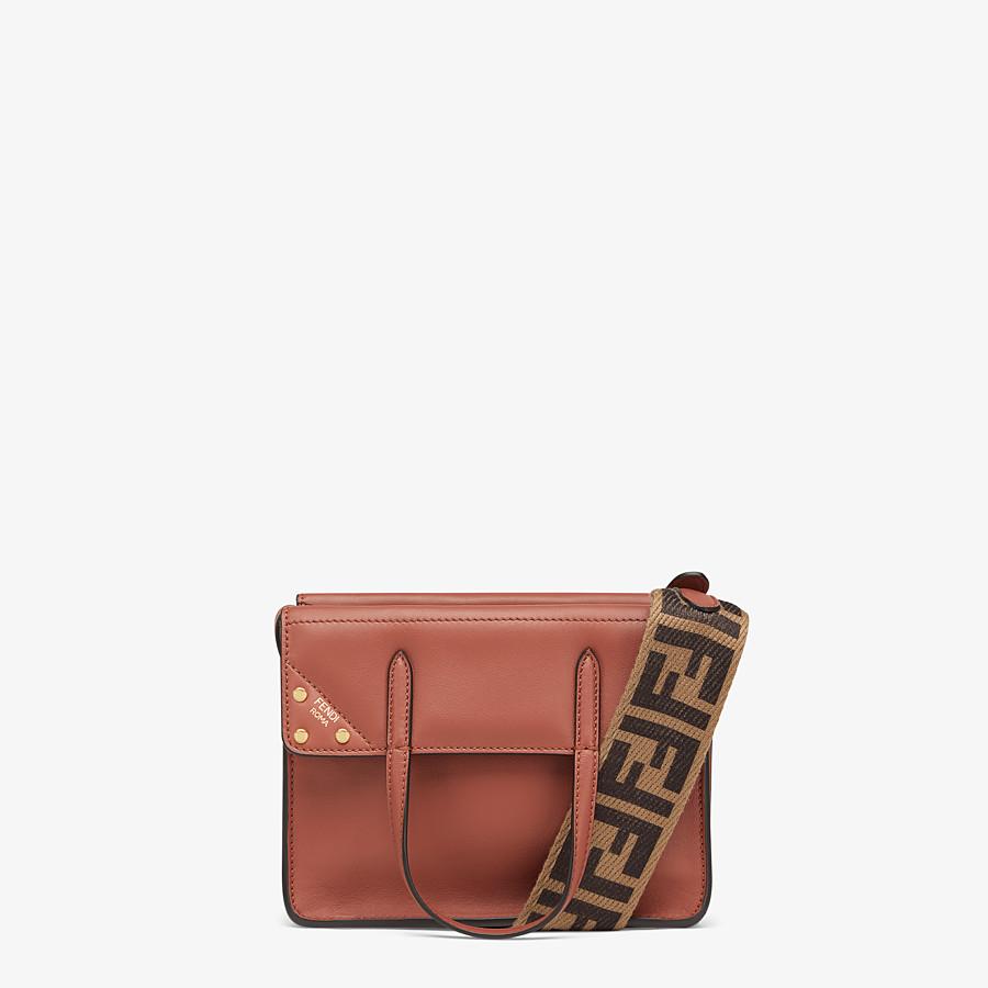 FENDI FENDI FLIP SMALL - Red leather mini-bag - view 1 detail