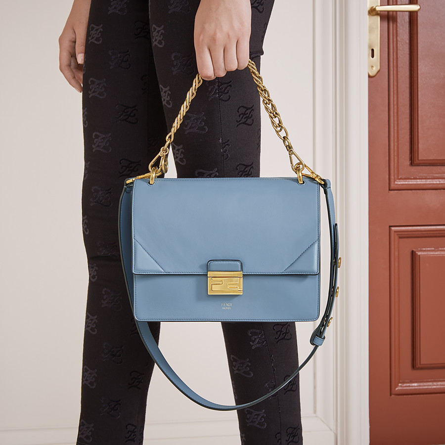 FENDI KAN U - Light blue leather bag - view 2 detail