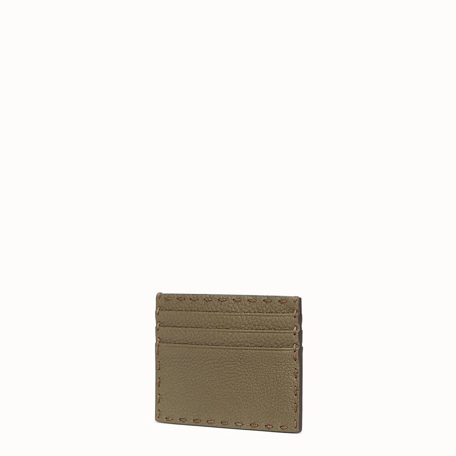 FENDI CARD HOLDER - Green leather card holder - view 2 detail