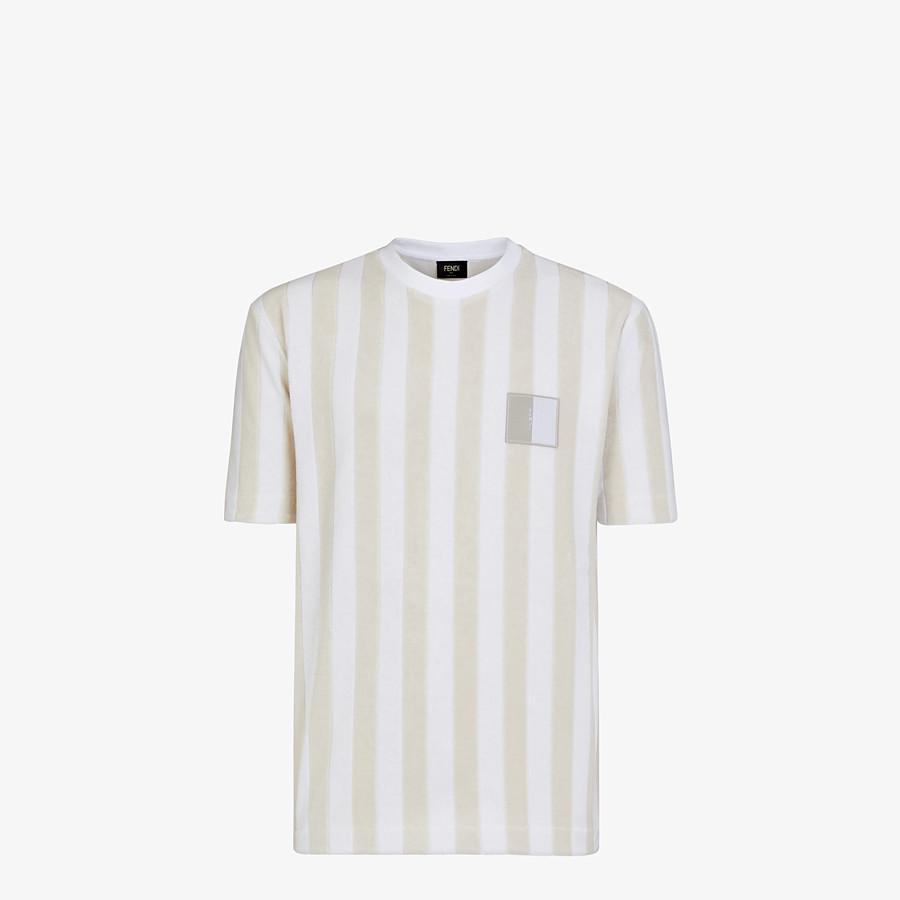FENDI T-SHIRT - Multicolour cotton T-shirt - view 1 detail