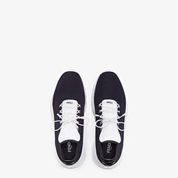 FENDI SNEAKER - Hoher Sneaker aus Stoff in Schwarz - view 4 thumbnail